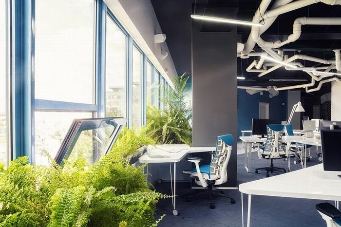 长沙办公室装修设计与长沙店铺设计装修预约信息300多方办公室,工业科技风