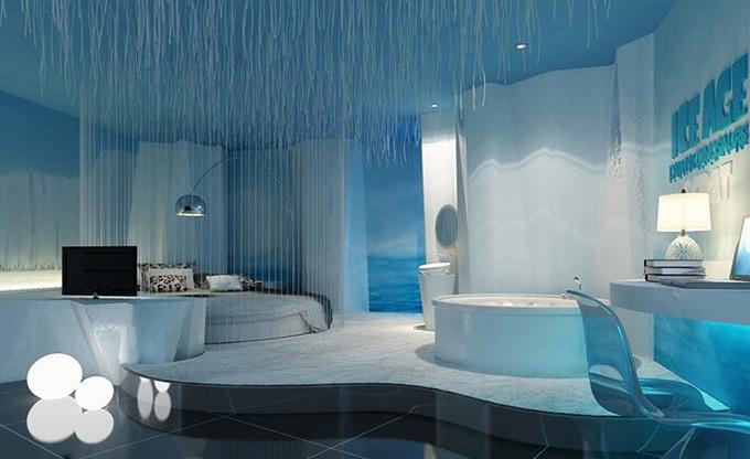 装修案例海洋之心 ▎主题酒店装修设计装修风格效果图
