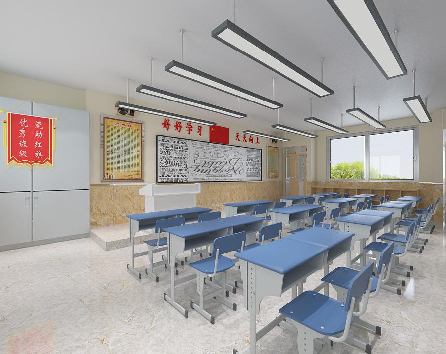 装修案例小学 ▎学校装修设计装修风格效果图