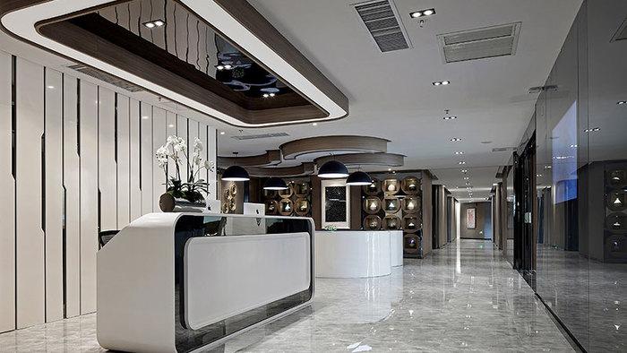 装修案例创世金融|办公楼装修装修风格效果图
