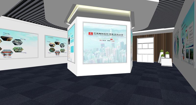 装修案例中建国际投资 ▎办公展厅装修装修风格效果图