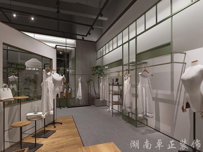 装修案例梵米斯工业风女装店 ▎店铺装修设计装修风格效果图