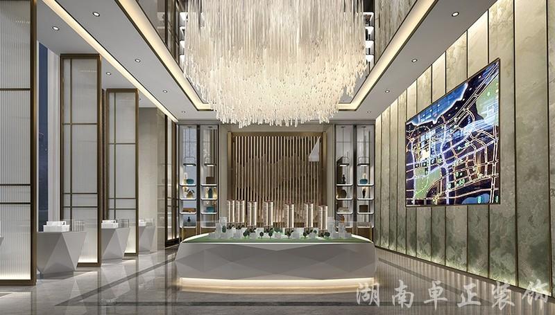 装修案例创亿地产售楼部设计装修风格效果图