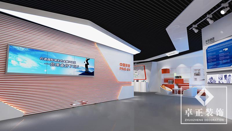装修案例中国平安|展厅装修设计装修风格效果图