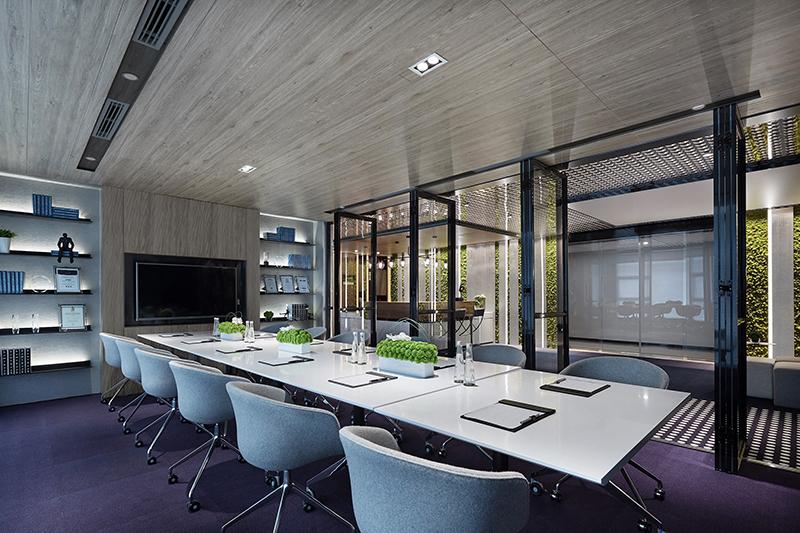 装修案例晶森|教育文化公司办公楼装修设计装修风格效果图